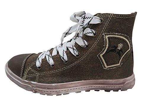 Maddox Country Trendige Herren Sneaker Fredl Grau aus Leinen mit Used Look Sohle, Trachten Schuhe, (43)