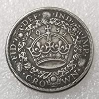 YunBest 1934 Rare Antique United Kingdom Coins- British UK Old Coin- Great British Shilling Uncirculated Commemorative Coin-Discover History of Coins BestShop