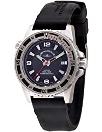 Zeno Watch Basel 6427-s1-7 - Reloj analógico automático para hombre con correa de silicona, color negro