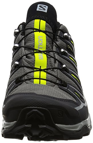 Salomon X Ultra II GTX Herren Trekking und Wanderschuhe Quiet Shade/Black/Lime Punch