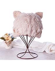 Qiaoba- Mlle automne et hiver chandail élégant et chaleureux Chapeau à tricoter
