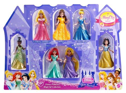 iClip Geschenkset mit 7 Puppen, Tiana, Rapunzel, Belle, Arielle, Cinderella, Schneewittchen und Dornröschen ()