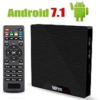 Android 7.1 TV Box 2GB RAM + 16GB ROM Quad Core Bluetooth 4.0/H.265/LAN 100/WIFI 2.4Ghz/H.265/SPDIF Unterstützt 4K Full HD Smart TV Box