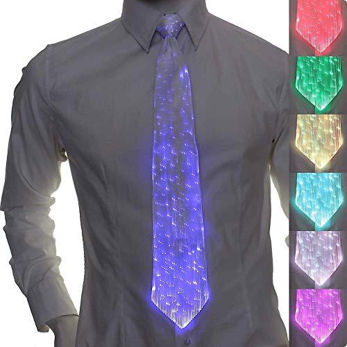 Wiederaufladbare LED-Glasfaser-Krawatte -