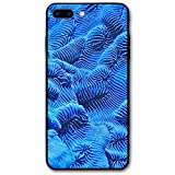 iPhone 8 Plus Case, Coral Cell Phone Case Slim-Fit Shock Proof Anti-Finger Print Phone Case for Women Men Girls Boys