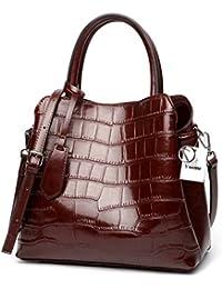 50bfaf898862e Yoome Klassische Damen Krokodil Geprägtem Leder Umhängetasche Frauen  Top-Griff Handtaschen Echtleder…
