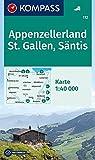Appenzellerland, St. Gallen, Säntis: Wanderkarte. GPS-genau. 1:40000 (KOMPASS-Wanderkarten, Band 112)