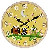 Perla PD Design Orologio da parete orologio per bambini Vintage Design Gufo ca. Ø 28cm