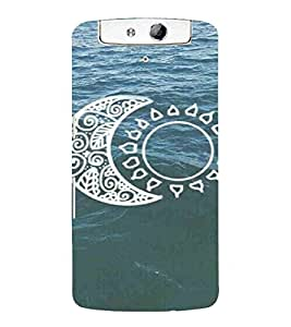 Ocean Pattern, Blue, Water, Beautiful Pattern, Printed Designer Back Case Cover for Oppo N1