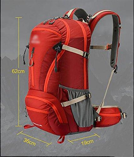 HWLXBB Outdoor Bergsteigen Tasche Multifunktions Rucksack Umhängetasche Wandern Tasche Outdoor Ausrüstung Männer und Frauen Outdoor Paket Bergsteigen Tasche 40L Rucksack Grün