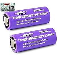2Efest Viola IMR 266503500mAh 64a 3.7V batteria batterie Flat Top