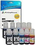 10 Tinten für Epson EcoTank ET-2700, ET-2750, ET-3700, ET-3750, ET-4750 | kompatibel zu Epson 102 C13T03R140 C13T03R240 C13T03R340 C13T03R440 | Tintenflaschen zum Nachfüllen