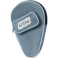 Atemi Cubierta de Raqueta de Tenis de Mesa | Espacio para 1 Raqueta y 3 Bolas de Ping Pong | Gruesa & Perdurable | Cremallera antideslizante con bolsillo delantero |Durabilidad de servicio pesado|Azul