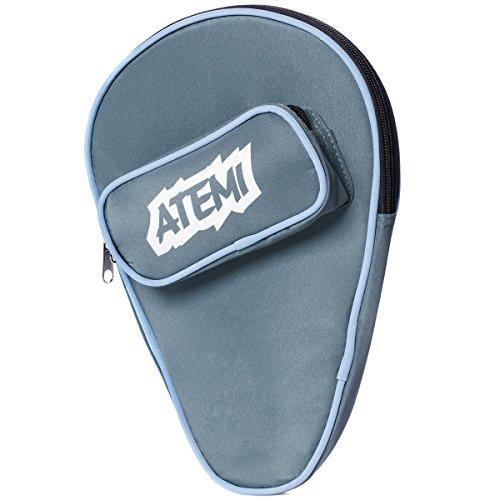 Atemi Tischtennisschläger Hülle | Hält 1 Schläger und 3 Tischtennis Bälle | Starker, langlebiger Stauraum | Slip-On Reißverschluss Case mit Vordertasche | Strapazierfähig und Langlebig | Blau