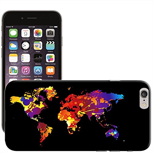 Fancy A Snuggle 'Flying auf der ganzen Welt Flugzeug' Hard Case Clip On Back Cover für Apple iPhone 5 C Paint Splash World Map