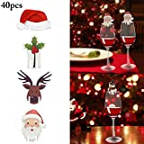 Coxeer Wine Glass Card Decorative Paper Place Card Glass Decor Card For Christmas