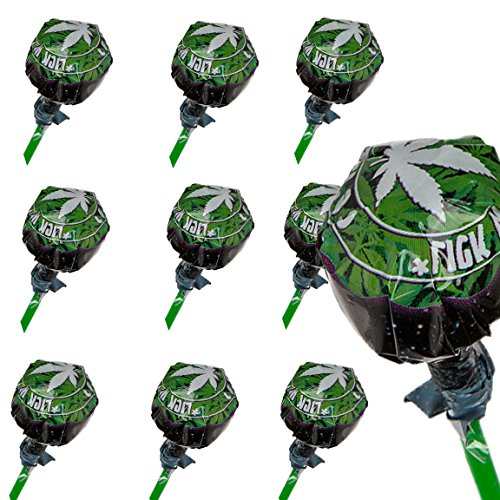 *Bada Bing 10er Set Lollie Cannabis Aroma Lutscher Legal Lolly Lollipops JGA 10*