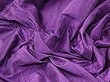 Crushed Strukturierte Taft Kleid Stoff lila–Meterware