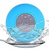 NAttnJf Impermeabile Ventosa Mini qualità del Suono Perfetta Altoparlante di aspirazione a Mani libere Bluetooth Senza Fili Impermeabile per Doccia Blu