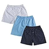 #3: The Cotton Company Men's Cotton Printed Boxer Shorts - Pack of 3 - Anchor