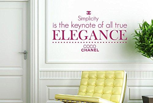 CUT IT OUT CO CO Chanel Simplicity ist der Keynote von alle True Elegance Wall Sticker Art Aufkleber-Groß (Höhe 57cm x Breite 105cm) violett