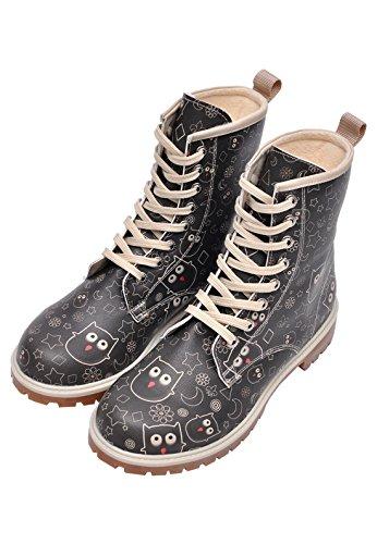 Dogo  Owl Lover,  Damen Stiefel , schwarz - schwarz - Größe: EU 40 - 2