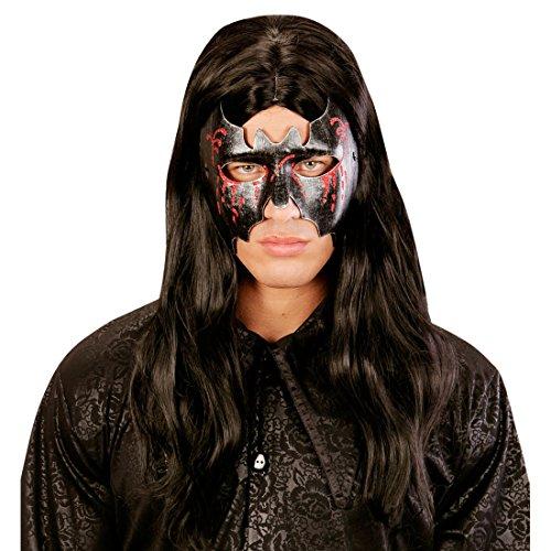 Halloweenmaske Fledermaus Maske Fledermausmaske Vampirin Augenmaske Damen Bat Kostüm Accessoire Teufelsmaske Gruselmaske (Fledermaus Vampirin)