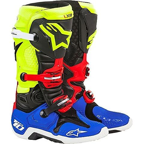 Alpinestars Tech 10Black/Yellow/Blue/Red 44,5