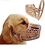 #4: Pet WholesaleAdjustable High Quality Muzzle cum Mouth Cover / Basket Cage Collar for Dog FOR EXTRA CARE (Meduim)