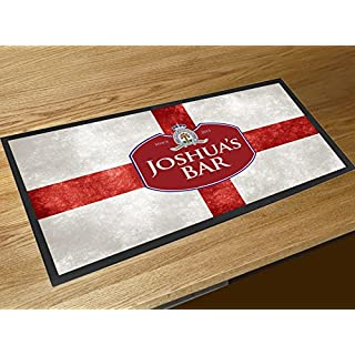 Artylicious Personalised St Georges england flag name bar runner counter mat