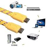 asiproper mit Herz mit 1080p HDMI-Kabel mit Stecker Video-Stecker 6ft. gelb