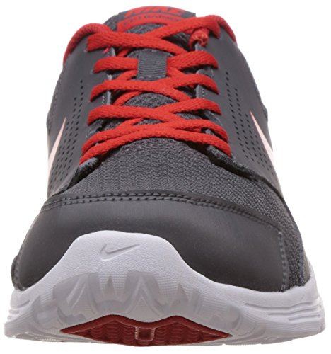 Nike Cp Trainer 2, Baskets Basses Homme, Taille Gris / Rouge / Blanc (Dark Grey / Challenge Red-White)