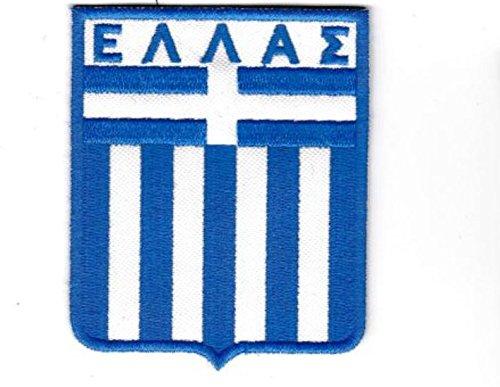 Patch Selección Alemana Grecia Fútbol cm 7x 8,5parche bordado Replica -1030