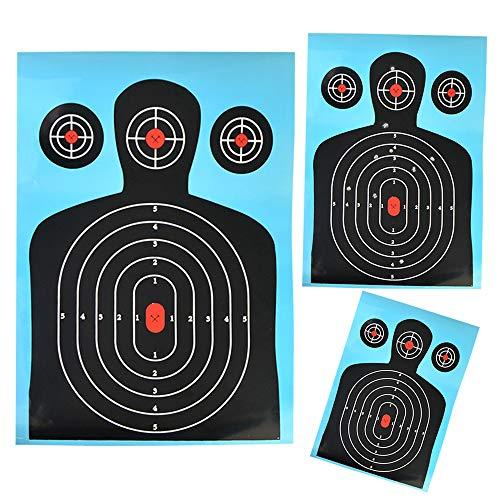 SHARROW 12pcs Target Paper Dianas de Papel de Arco para Flecha 12x18 Pulgadas Objetivos de Entrenamiento Táctico