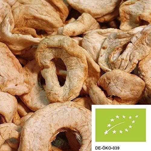 1kg BIO Apfelringe soft - schonend getrocknete Apfelringe aus Deutschland in bester Bio-Qualität, ungezuckert und ohne Zusätze