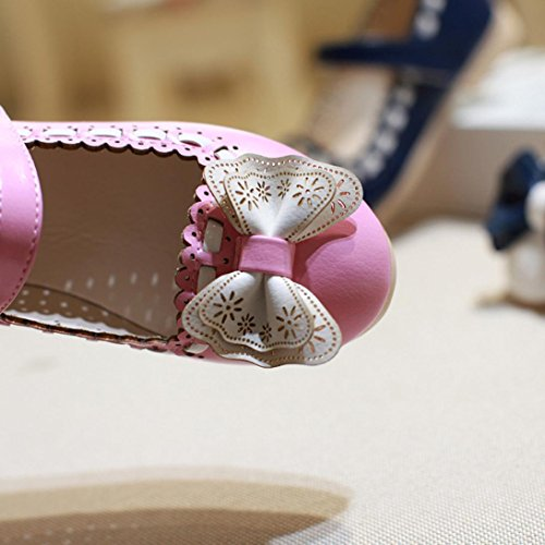BZLine® Girls Princess Blumen Sandalen flach Sandalen Kinder Sommer Mädchen Sandalen Pink