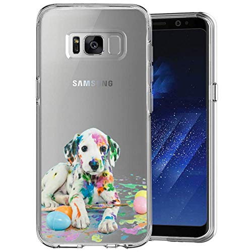 Dazhi Samsung Galaxy S8Clear Case ballerina Customized design Crystal del modello ultra sottile e flessibile per Samsung Galaxy S8 Samsung Galaxy S8 plus Dalmatians Dog