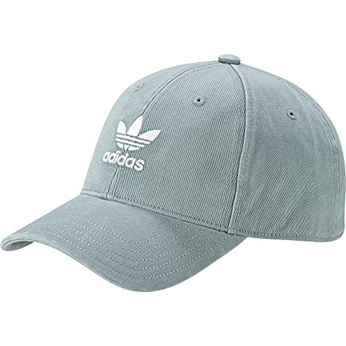 adidas Herren Adicolor Washed Baseball-Cap, Vapour Steel/White, FR Unique (Taille Fabricant : OSFM)