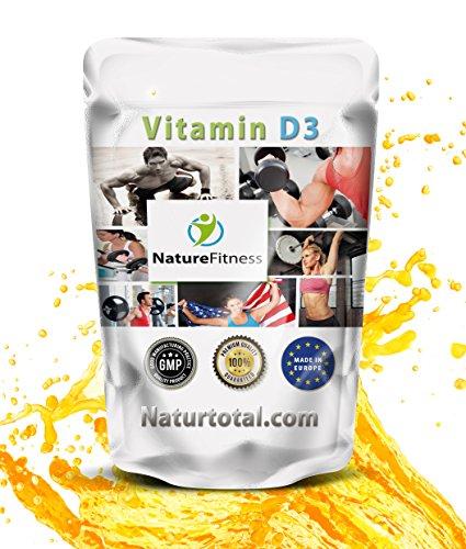 VITAMIN D3 Hochdosiert: 180 Tabletten für Sportler und Menschen mit viel Stress - Garantiert Glutenfrei