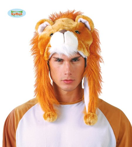 Guirca Süße Löwenmütze Löwe Mütze Hut für Erwachsene Tier Löwenkopf Karneval ()