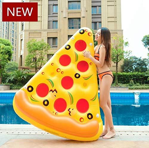 HuXwei Riesen Sommer Emoji Pool Float Sonnenbrille Emoticon Aufblasbare Schwimmen Breite Kühlen Für Pool Wasser Party Spielzeug Piscina Liege, 180 cm Pizza