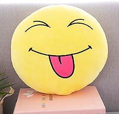 Triad basics Teasing Funny Emoji |Smiley | Emoticon Cushion Pillow Soft Toy 35cm (Teasing)