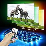 VOYOMO LED TV Hintergrundbeleuchtung, 4 * 50CM mit Fernbedienung TV Beleuchtung USB für 40-60 Zoll TV, Fernseher, PC-Monitor, Desktop, Tische