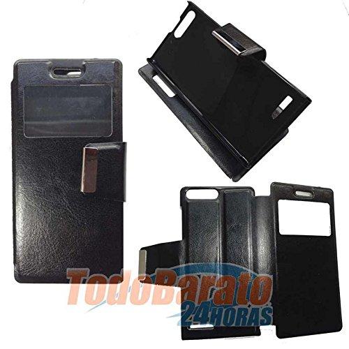 Todobarato24h Funda Libro Ventana Negro Huawei Ascend G6 4G Orange Gova