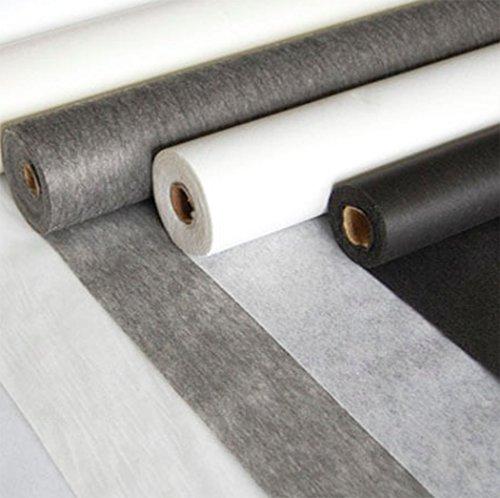 Fixierstoff zum Aufbügeln, Weiß / Grau, Meterware Grey Light (Pins Zum Verkauf)