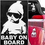 """""""Carlos"""" Baby on Board Autoaufkleber (bekannt aus Hangover) - Premium Qualität für die Sicherheit Ihres Kindes - Volle Geld-Zurück-Garantie"""