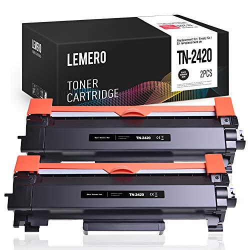 LEMERO 2 Toner per Brother TN-2420 TN2420 per HL-L2310D HL-L2350DN HL-L2370DN HL-L2375DW MFC-L2710DN MFC-L2710DW MFC-L2730DW MFC-L2750DW DCP-L2510D DCP-L2530DW