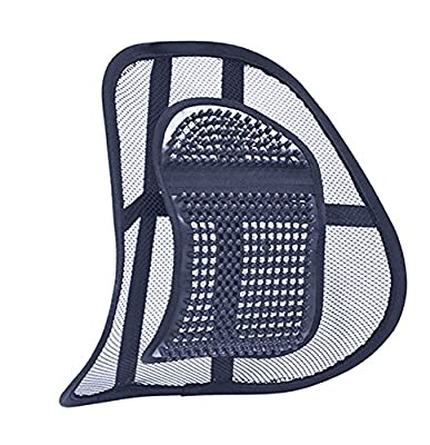 Air Flow Lumbar Support Cushion for Car Seat or Chair Back Rest (Eligible for VAT relief in the UK) - inexpensive UK light shop.