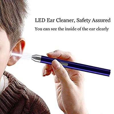 Ear Cleaner Ear Wax Remover Electronic Led Earpick with USB Charging