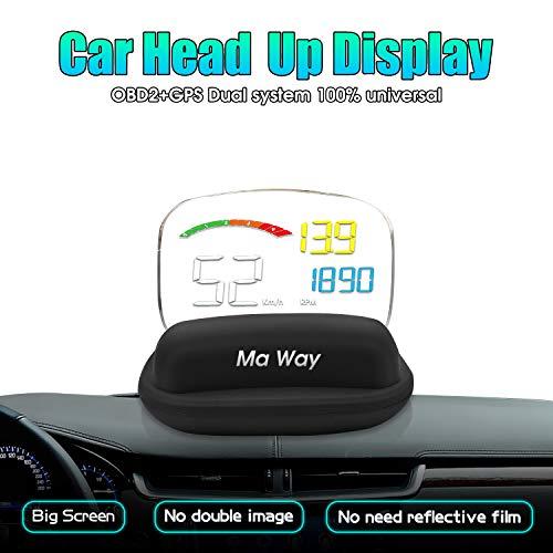 Preisvergleich Produktbild Ma Way Auto OBD2 Trip Computer OBD Diagnose Geschwindigkeitsmesser Display C800 HUD Head Up Display